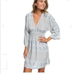 Roxy Free Mind Temple Kimono Sleeve Dress